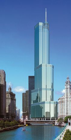 USA. Trump Tower, Chicago, Illinois.....how about a fall shopping trip to Chicago! kimberly@ftotravel.com