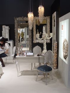 Ambiente Frankfurt exhibition by Reinette-katzoff.com info@reinette-katzoff.com Frankfurt, Shell, How Are You Feeling, Vanity, Mirror, Furniture, Design, Home Decor, Dressing Tables