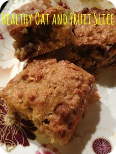 Healthy Oat and Fruit Slice