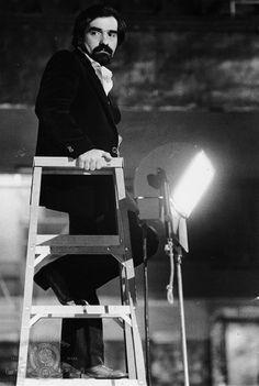 """Martin Scorsese on the set of """"Raging Bull"""" (1980)"""