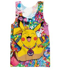 b6069df6ef890 Original Pokemon Raver Pikachu in Kandiland All Over Print Tank Top -  RageOn! - The World s Largest All-Over-Print Online Store