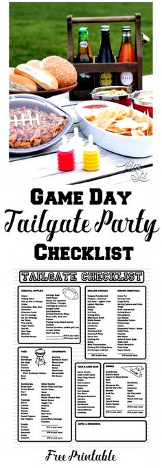Football Party Games, Tailgate Games, Football Tailgate, Tailgating Recipes, Tailgate Food, Tailgate Parties, Picnic Parties, Football Stuff, Picnic Recipes
