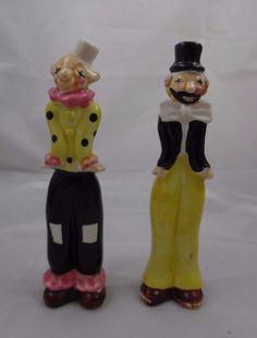 Vintage Hobo Clown Salt and Pepper Shakers   | eBay