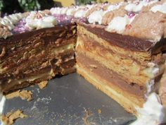 Tarta de galletas (Mi receta) Thermomix - La Juani de Ana Sevilla Candy Recipes, Sweet Recipes, Sin Gluten, Tiramisu, Fondant, Bakery, Sweet Treats, Deserts, Cooking Recipes