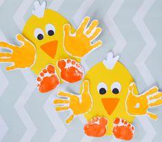 Handprint Chick Easter Craft for Kids