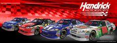 Kasey Kahne, Jeff Gordon, Jimmie Johnson and Dale Earnhardt Jr.