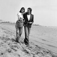 Jane Birkin et Serge Gainsbourg, Cannes 1974.