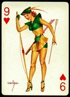 Alberto Vargas 1950/'s Vargas Girl Playing Card Swap Card KING OF DIAMONDS Near Mint  Mint