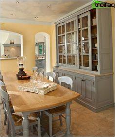 Κουζίνα στο στυλ της Προβηγκίας - Φωτογραφία 80 ιδέες για την κουζίνα εσωτερική διακόσμηση