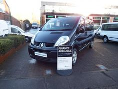 2011 61 RENAULT TRAFIC SPORT LWB MINIBUS 9 SEATER IN BLACK WITH NAV 115bhpCHOICE OF 9 12 15 AND 17 SEATER MINIBUSES  £11,495+VAT  WWW.CHESHIREVANSALES.CO.UK TEL:-01613434658