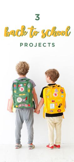 It's Back to School time! Get out your Trapper Keeper and sharpen those pencils! These three projects are a really fun ways to personalize Back to School backpacks.