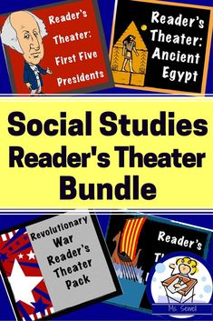 Get all of my social studies based reader's theaters and save moolah! Buy this bundle, save over 20% and get 30 scripts! Help your students improve their reading fluency while learning important history standards. Talk about reading to learn while learning to read!