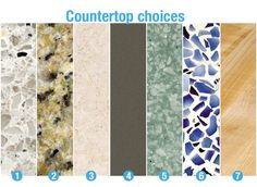 Top Countertop Materials   Counters That Last - Consumer Reports News. Lists pros and cons.