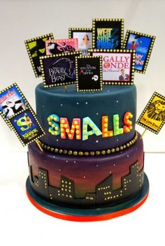 Broadway musical theatre cake