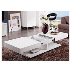 Almost every modern interior house has a coffee table design for the living room . This piece of furniture can be used for tea drinking or . Smart Furniture, Table Furniture, Home Furniture, Furniture Design, Centre Table Design, Tea Table Design, Table Designs, Diy Coffee Table, Modern Coffee Tables