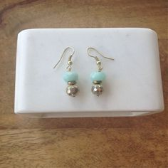 Amazonite Pyrite Drop Earrings- Laura James Jewelry – Laura James Jewelry