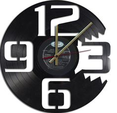 Clocks made out of old records