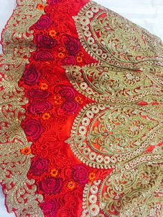 Red Roses Bridal Lehenga