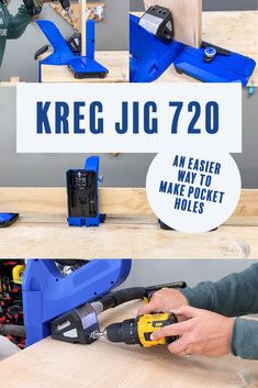 Learn everything about the new top-of-the-line Kreg Jig 720 pocket hole jig including all the features, how to use it, and my review. COmplete Easy Pcoekt hole jig tutorial. #anikasdiylife #woodworking #woodworkingtips Scrap Wood Projects, Woodworking Projects That Sell, Diy Furniture Projects, Woodworking Tips, Furniture Makers, Diy Projects, Project Ideas, Pocket Hole Jig, Kreg Jig