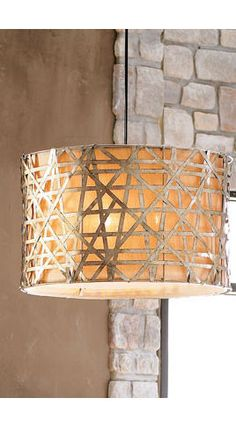 Alita Basketweave Lights - contemporary - chandeliers - Horchow,  The line use creates interesting shapes and design