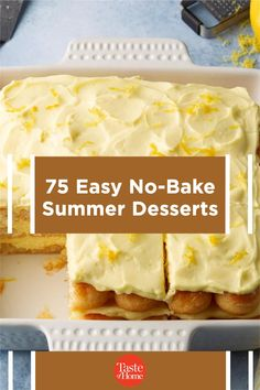 Too hot to turn on the oven? No problem! These easy summer desserts are ready in a flash and don't even need to be baked! So keep cool and reward yourself with these no-bake recipes. No Bake Summer Desserts, Potluck Desserts, Summer Treats, Summer Recipes, Dessert Recipes, Fudge Recipes, Baking Recipes, Picnic, Oven