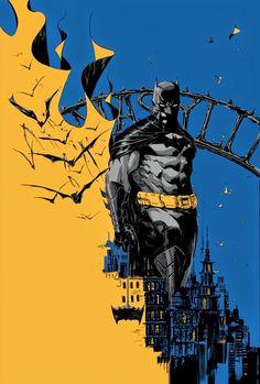 DC comics for March: this is the cover for Batman Eternal Omnibus HC, drawn by Dustin Nguyen. Batman Wallpaper, Batman Artwork, Comics Anime, Marvel Dc Comics, Comic Sans, Batman Eternal, Dustin Nguyen, Im Batman, Superman