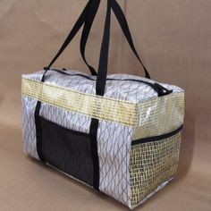 Interesting fabric in use from sail supply -Racing Laminate Sailcloth Seconds Duffel Bag, Tote Bag, Gifts For Sailors, Sailing Outfit, New Bag, Cloth Bags, Outdoor Gear, Diaper Bag, Plastic Bags