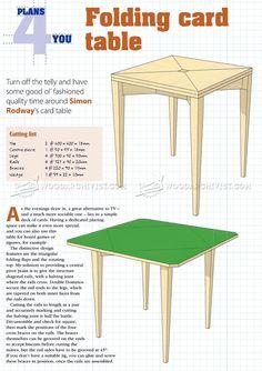 #1501 Folding Card Table Plans - Furniture Plans