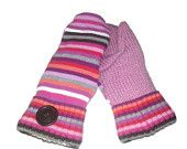 Fleece Lined Striped recycled sweater mittens - $25 + Free Shipping #HEPTEAM #sweatermittens www.etsy.com/shop/kateshandiwork