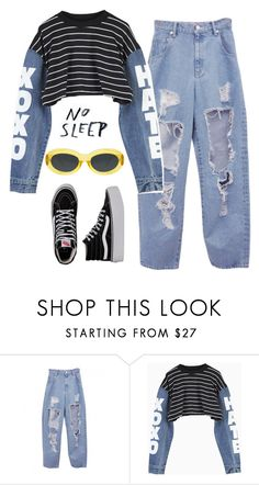 """""""girl you're so fly"""" by chanelandcoke ❤ liked on Polyvore featuring Vans and Dries Van Noten"""