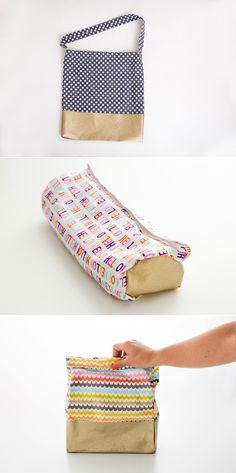 DIY: back to school bags (tote bag, pencil case and lunch bag)