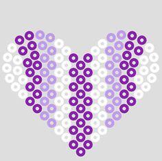 Heart -- perler beads