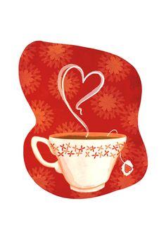 Heart Tea Print