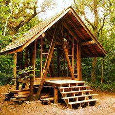 My friend Dan Tuckett was constructing this roundwood timber frame and I leant him a helping hand. https://www.linkedin.com/in/dan-tuckett-6b763b4