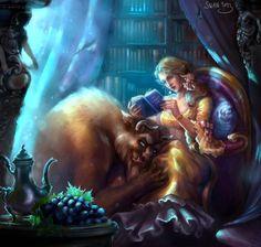 Hot fantasy art by alena swan belle and adam, belle beauty and the beast, Disney Fan Art, Disney Love, Comic Collage, Beauty And The Beast Art, Beauty Beast, Belle And Adam, Belle And Beast, Dark Disney, Twisted Disney