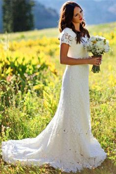 Cheap gown purple, Buy Quality dress wedding gown directly from China gown embroidery Suppliers: Women 2016 Classic A Line Bridal Gowns Short Sleeve Lace Wedding Dress Order Modest Hochzeitkleider Western Country Style Weddi A Line Bridal Gowns, Bride Gowns, Bridal Dresses, Wedding Gowns, Wedding Venues, Bridesmaid Dresses, Cheap Dress Shirts, Cheap Dresses, Country Wedding Dresses