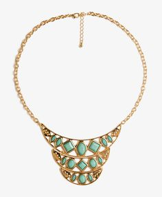 Forever 21 Tiered Crescent Necklace on shopstyle.com