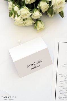 Modern Place Cards and Table Numbers