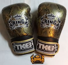 TOPKING COBRA GOLD/SILVER LIMITED EDITION BOXING GLOVES in Sporting Goods | eBay
