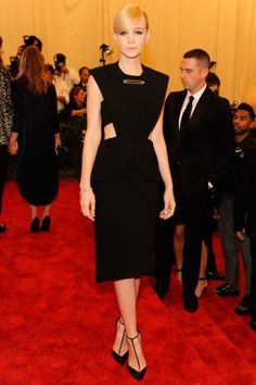 Carey Mulligan in Balenciaga and Tiffany  Co. jewelry