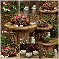 My cable drums - Debbies-Garten - # Diy Outdoor Furniture, Outdoor Decor, Yard Yahtzee, Barris, Cable Drum, Front Yard Design, Most Beautiful Gardens, Diy Garden Decor, Wood Projects