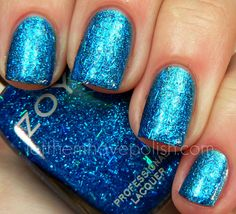 Zoya Nail Polish in Twila. Blue Bar Glitter!!! http://www.zoya.com