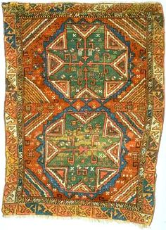 Konya carpet, 19th c., Seljuk star motif.