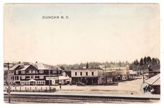 BC – DUNCAN, Station Street, Tzouhalem Hotel, Bank of Commerce c.1910s PPC
