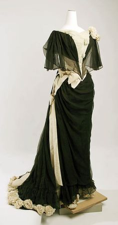 Evening Dress    Drécoll, 1890