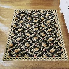 Pineapple Wool Area Rug traditional-rugs