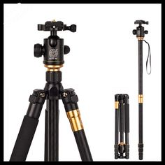 (68.80$)  Watch more here - http://ailly.worlditems.win/all/product.php?id=32675840347 - High Quality Professional Photographic Portable Tripod To Monopod+Ball Head For Digital SLR DSLR Camera Fold 43cm Max Load 15Kg