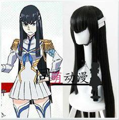 KILL la KILL Satsuki Kiryuuin Cosplay Wig Black 100cm + Hairclip + Free Wig Cap