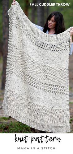 Knitting Paterns, Knitting Stitches, Knitting Projects, Knit Blanket Patterns, All Free Knitting, Knitting Ideas, Fall Knitting Patterns, Beginners Knitting Patterns Free, Baby Blanket Knitting Pattern Free