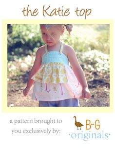 BG (Brownie Goose) Original The Katie Top pdf pattern by browniegoose on Etsy, $10.50